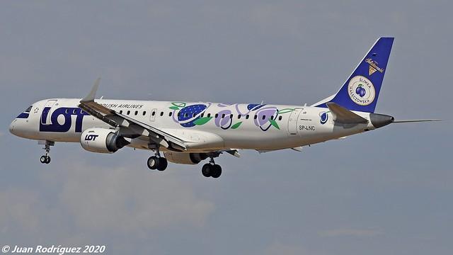 SP-LNC - Polish Airlines - Embraer ERJ-195LR (ERJ-190-200 LR) - PMI/LEPA