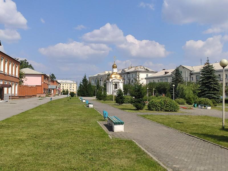 Ленинск-Кузнецкий - Сквер с часовней