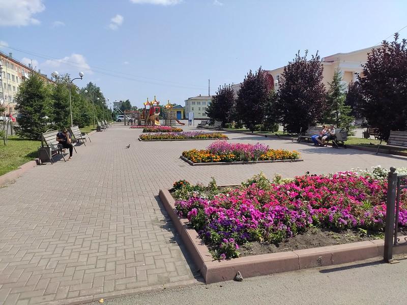 Ленинск-Кузнецкий - Клумбы у ДК имени Ярославского