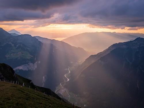 thunersee männlichen sunset trailrun samsungs8 cloud landschaft