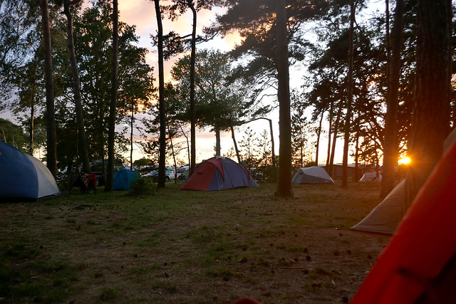 Sunset on the campground
