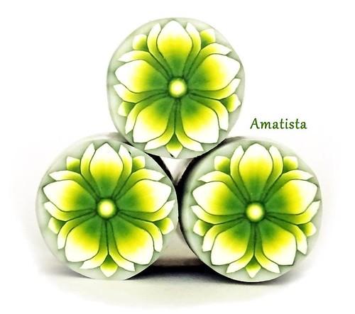 Murrina flor verde-amarillo