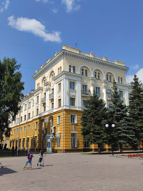 Ленинск-Кузнецкий - Сталинка на площади Победы