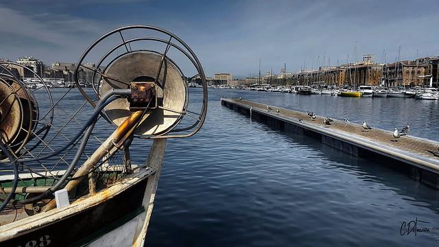 Sur le Vieux port de Marseille