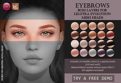 Eyebrows (LeLutka Evolution BOM)