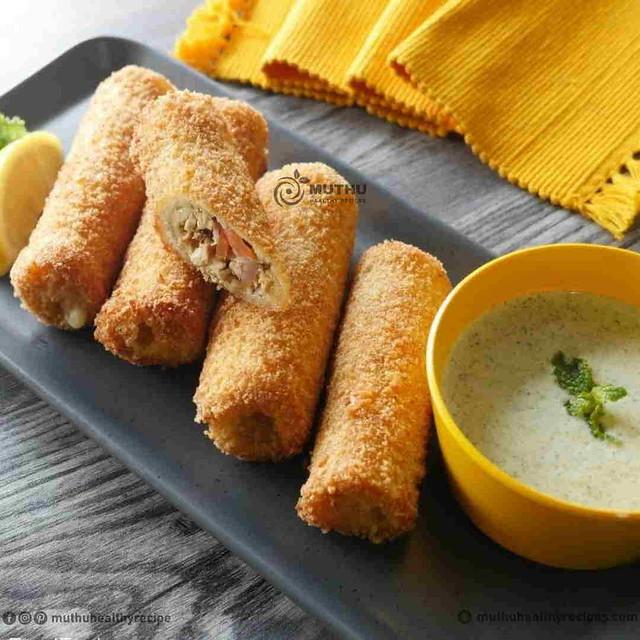Chicken Bread Roll Recipe