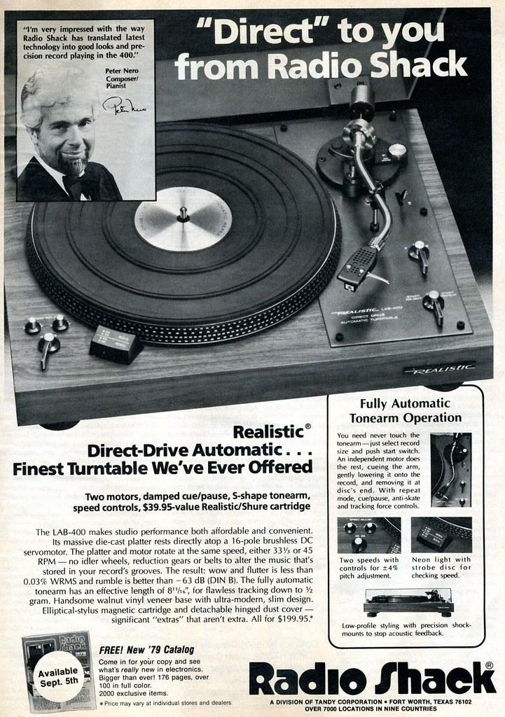 Radio Shack, Realistic 1978