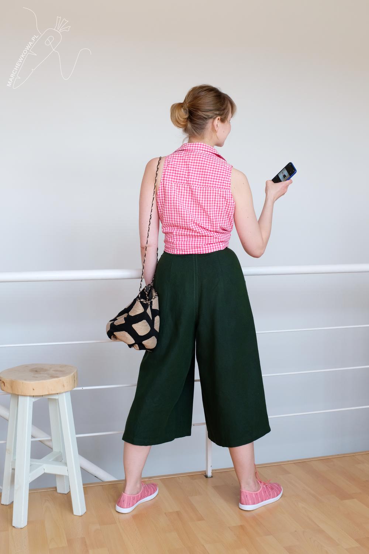 blog, marchewkowa, szycie, Wrocław, spódnico-spodnie, len, retro, vintage, 1950s, culotte, Burda pattern, DIY