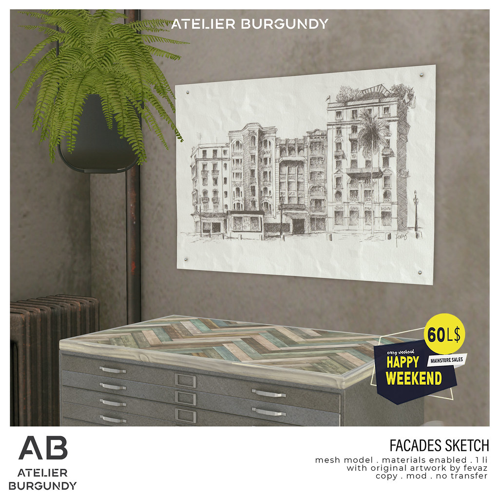 Atelier Burgundy . Facades Sketch HW