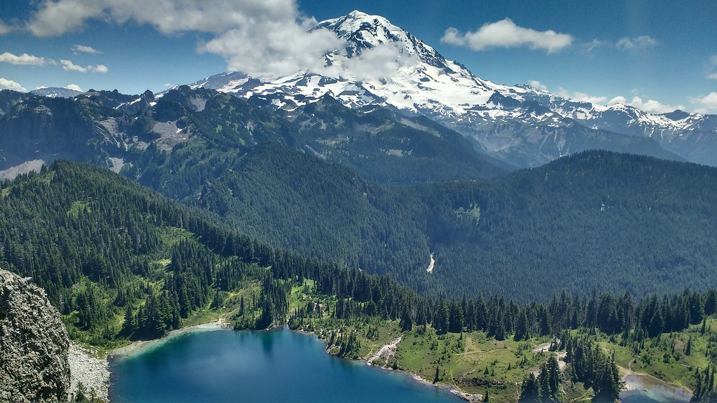 View from Tolmie Peak, Mount Rainier National Park  7/25/2016