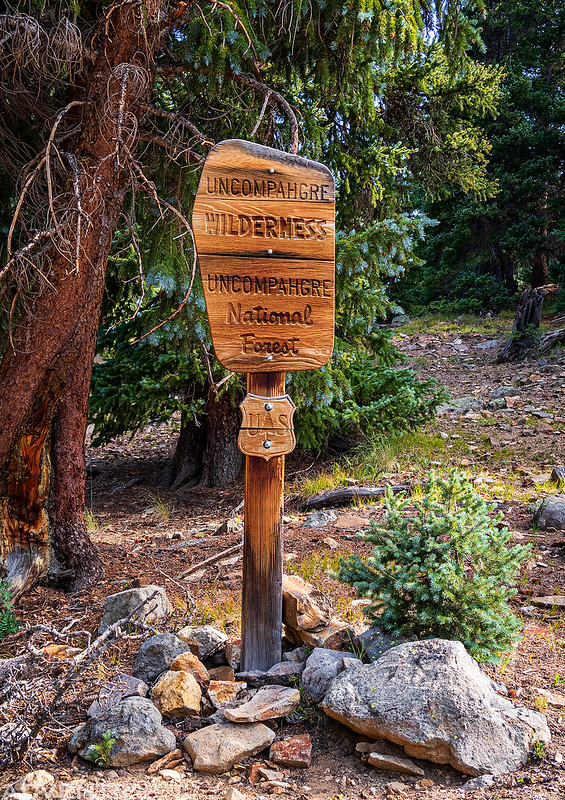 Uncompahgre Wilderness Sign