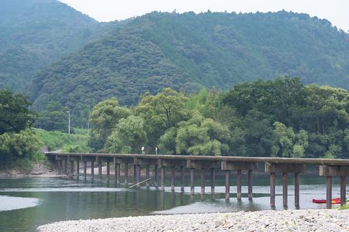 日本 四萬十市 高知縣 kochi 高知 四万十川 勝間沈下橋