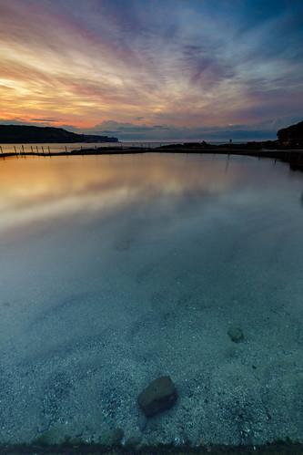 newsouthwales australia reflection clear water ocean rock pool sydney nsw malabar randwick sand sunrise dawn first light