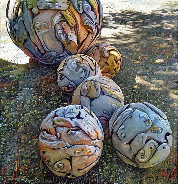 6 Wooden Ball