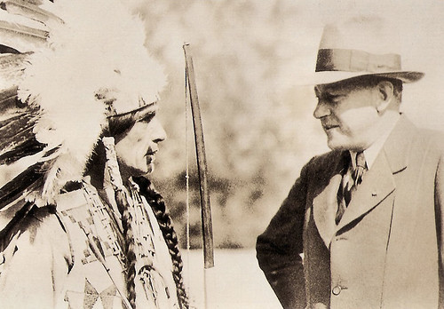 Cecil B. DeMille and Chief Little Bison