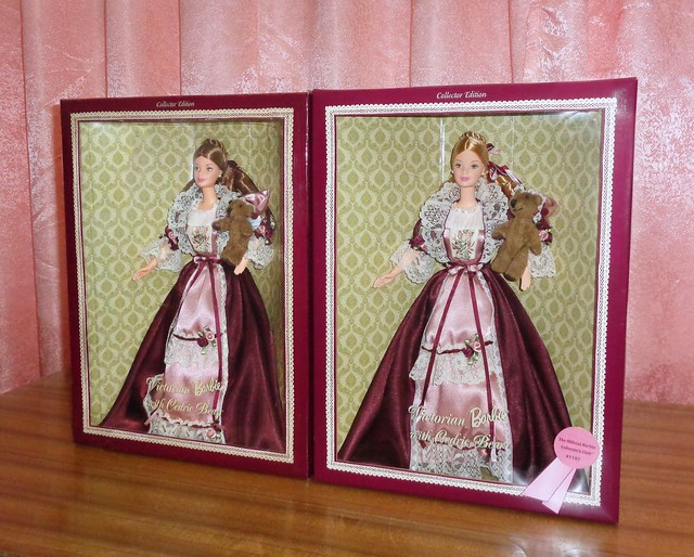 2000 Victorian Barbie with Cedric Bear (Official Barbie Collector's Club Exclusive & Standard Versions)
