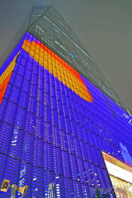 One World Trade Center on Halloween Foggy Night WTC Freedom Tower Lower Manhattan New York City NY P00621 DSC_3455