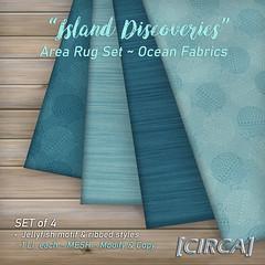 """SSS Event Item   [CIRCA] - """"Island Discoveries"""" - Area Rug Set - Ocean Fabrics"""