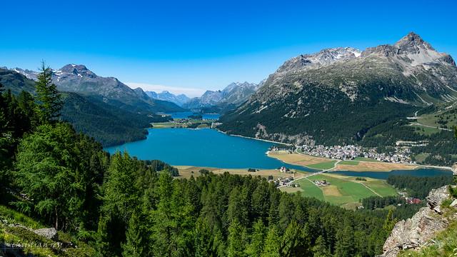 Haute Engadine: les lacs de Silvaplana et Sils (Switzerland)