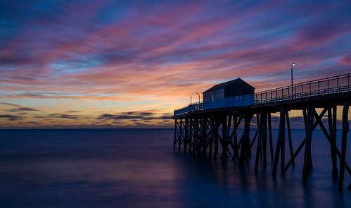 belmarnewjersey belmar newjersey jerseyshore sunrise beach beachsunrise fishingpier longexposure