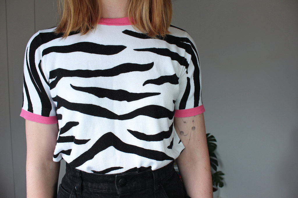 Second Hand Zebra Knit