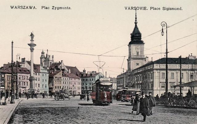 Plac Zamkowy ok 1910
