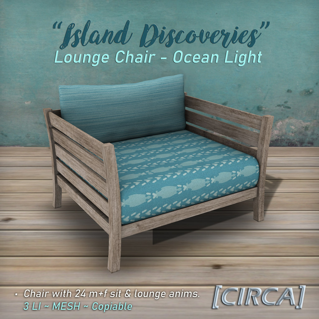 "SSS Event Item | [CIRCA] – ""Island Discoveries"" – Lounge Chair – Ocean Light"