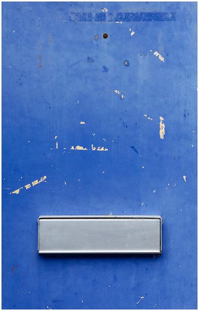 Blue Door and Letter Box, Dumbarton
