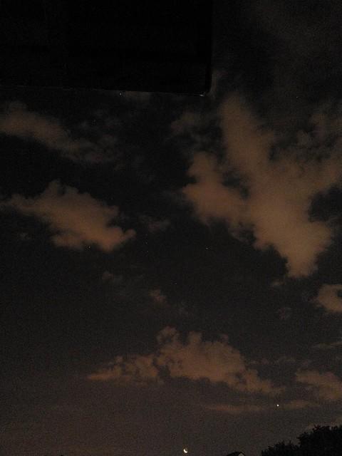 Orion, Sirius, Procyon, Venus and The Moon, Johannesburg, via mobile