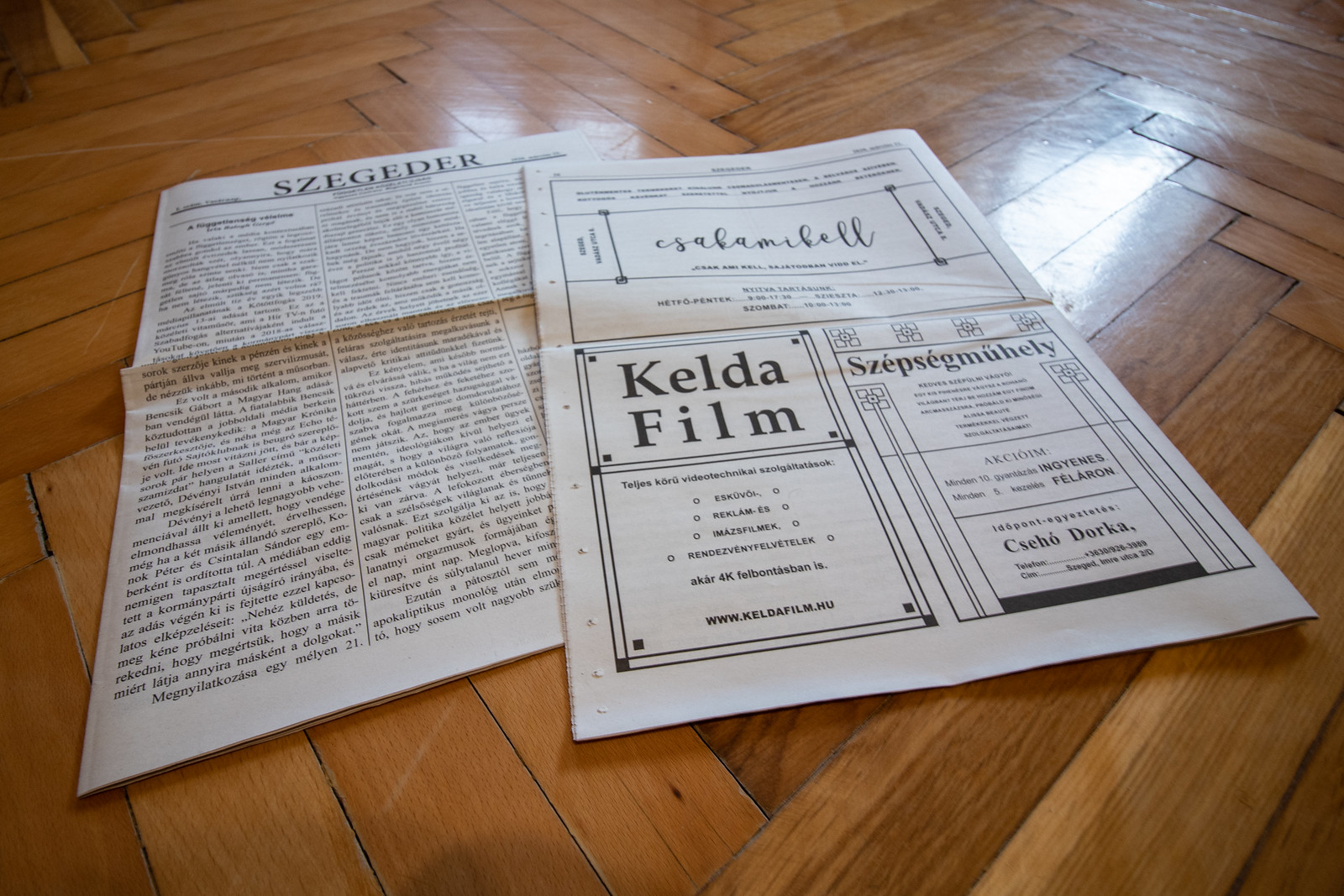 Megjelent első nyomtatott újságunk