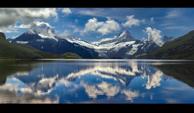 Summer 2020  , the Bachalpsee panorama no. 2. Grindelwald, Canton of Bern, Switzerland.