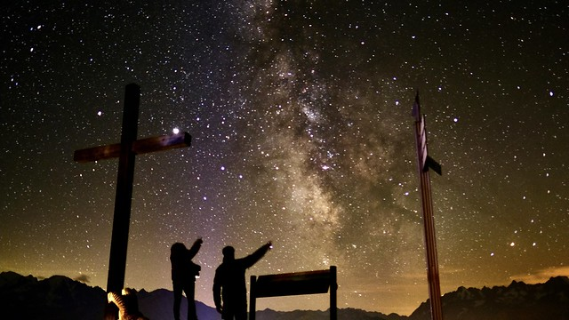 Ascension day Milky way Verbier