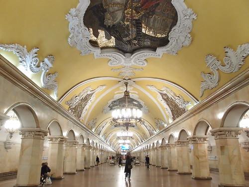 Estación de metro Komsomólskaia de Moscú
