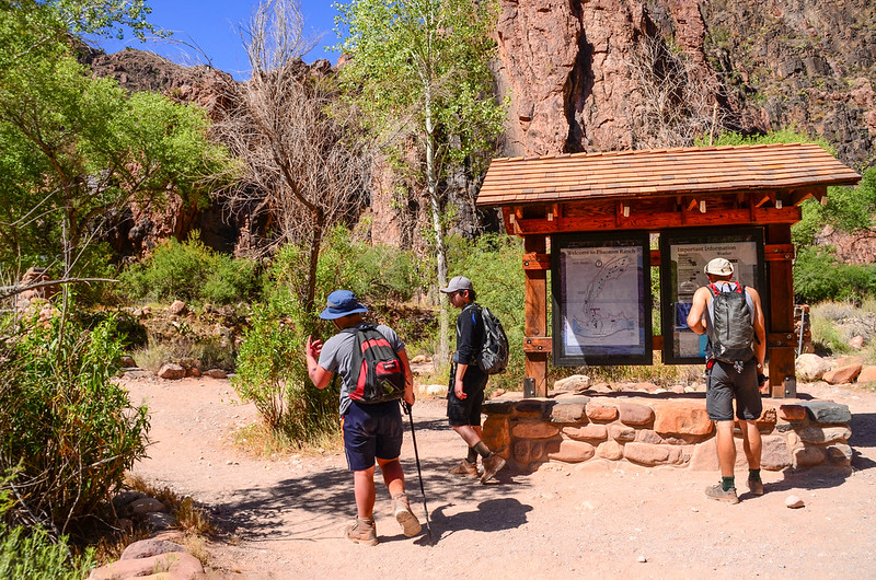 North Kaibab Trail & Bright Angel Trail junction
