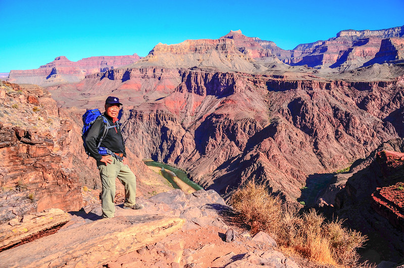 Me on the South Kaibab Trail with Colorado River in the background