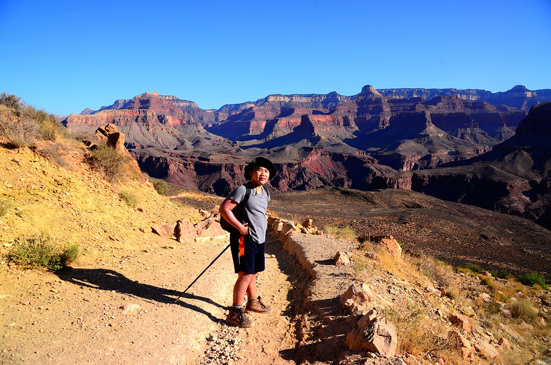 Jacob on the South Kaibab Trail near The Tipoff