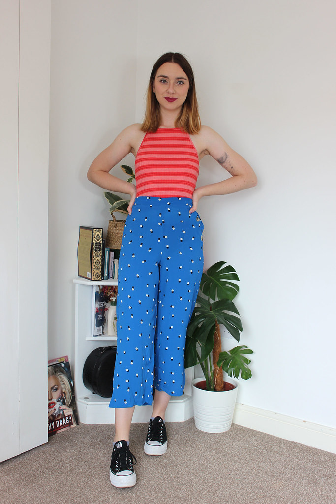 Second Hand Blue Culottes