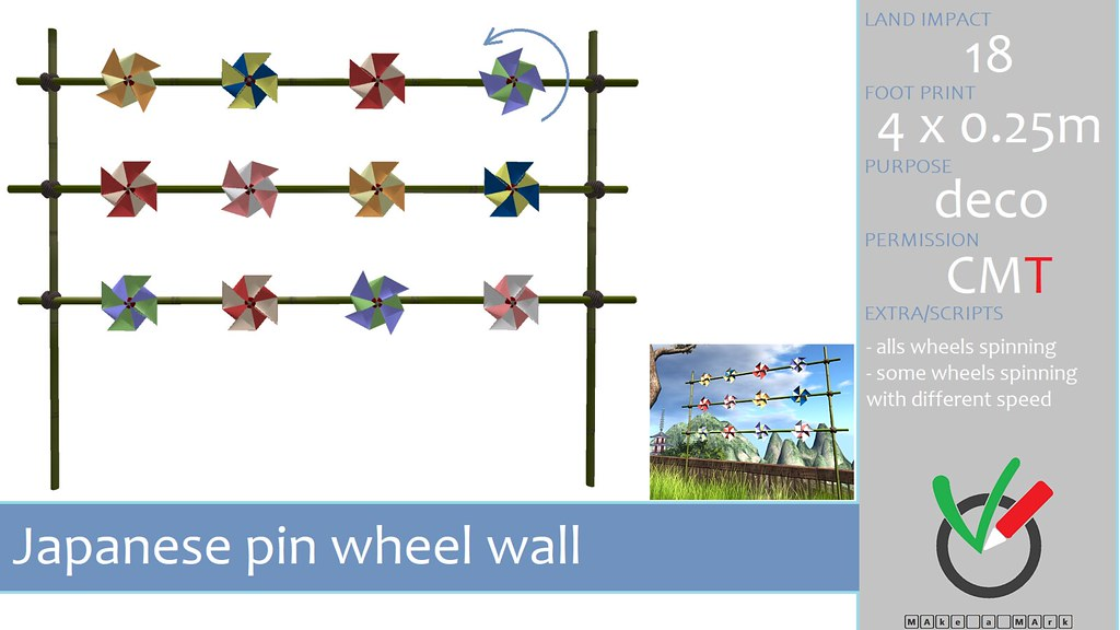 MAke a MArk: Japanese Pinwheel wall. Now available