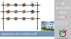 MAke a MArk: Japanese Pinwheel wall. Now available