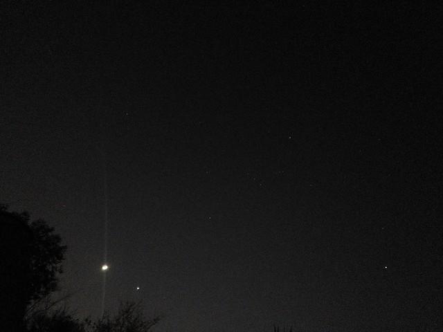 The Moon, Venus, Orion, Johanneburg, via mobile