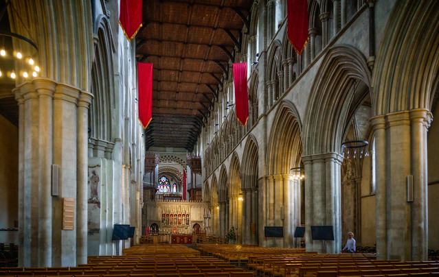 Nave of the St. Albans cathedral