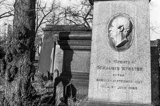 Benjamin Webster, memorial, Brompton Cemetery, West Brompton, Kensington & Chelsea, 1987 87-12b-31-positive_2400