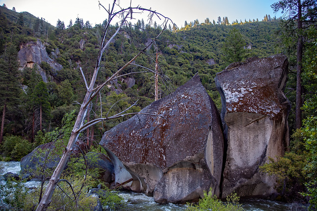 Big Rock in the River