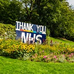 Thank you NHS flower display