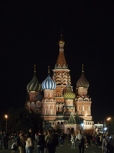 Catedral de San Basilio de noche