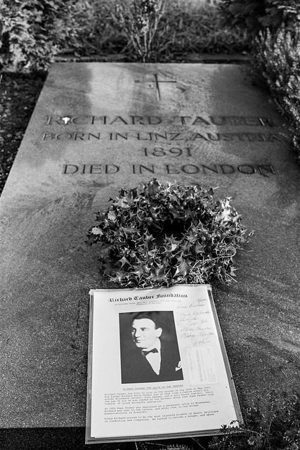Richard Tauber, grave, Brompton Cemetery, West Brompton, Kensington & Chelsea, 1987 87-12b-22-positive_2400