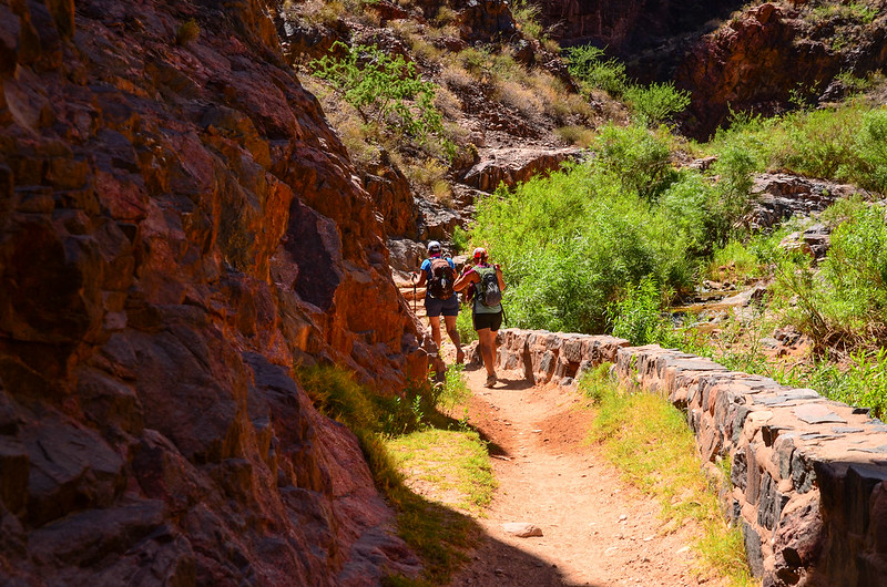 Bright Angel Trail along Pipe Creek
