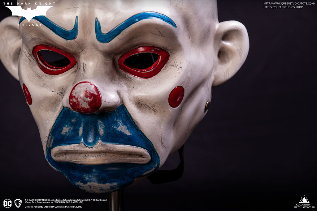 Queen Studios《黑暗騎士》「小丑面具」等比例可穿戴道具複製品
