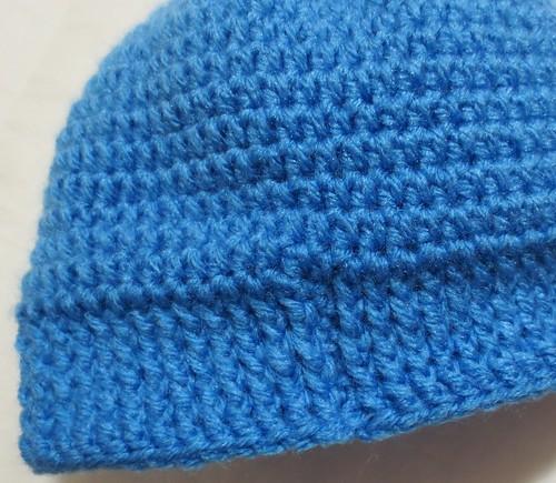 Seamless Crocheted Hat Closeup