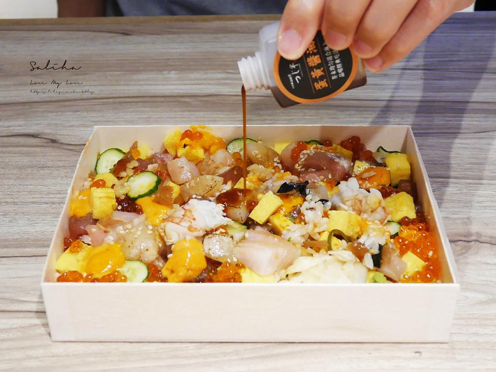 台北高級日本料理好吃日本橋海鮮丼辻半微風信義店外帶便當商務餐盒 (3)